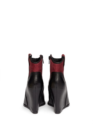 ASH - 'Jude' conceal wedge leather and suede ankle boots