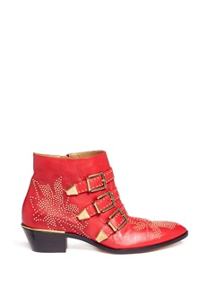 CHLOÉ Studs-detail buckle ankle boots