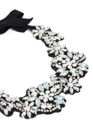 J.CREW - Fabric-backed crystal cluster necklace