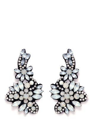 Main View - Click To Enlarge - J.CREW - Fabric-backed crystal cluster earrings