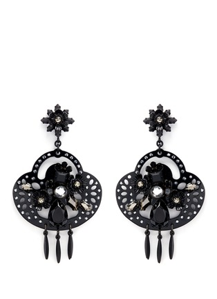 Main View - Click To Enlarge - J.CREW - Midnight crystal chandelier earrings