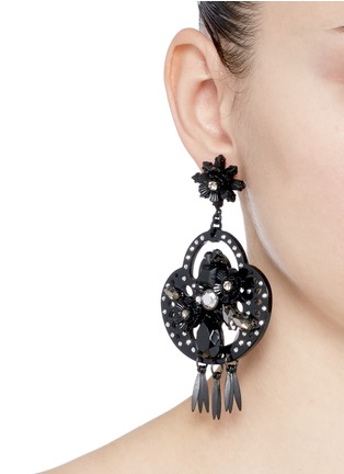 Figure View - Click To Enlarge - J.CREW - Midnight crystal chandelier earrings