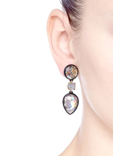 J.CREW Brulée crystal drop earrings