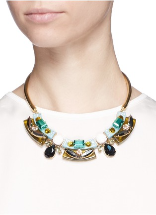 J.CREW - Lucite-and-crystal collar necklace