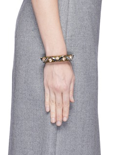 J.CREW Lucite-and-crystal bracelet