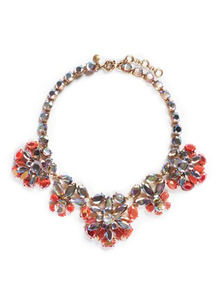 J.CREW - Rainbow crystal necklace