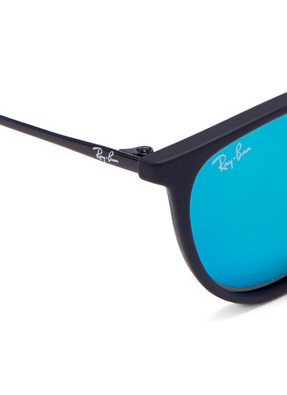 Detail View - Click To Enlarge - Ray-Ban - 'Izzy' junior acetate frame wire temple mirror sunglasses