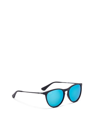Figure View - Click To Enlarge - Ray-Ban - 'Izzy' junior acetate frame wire temple mirror sunglasses