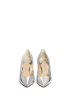 PAUL ANDREW 'Kimura' wavy mirror leather pumps