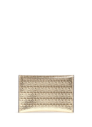 Figure View - Click To Enlarge - Alexander McQueen - Skull textured mirror leather card holder