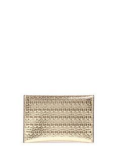 ALEXANDER MCQUEENSkull textured mirror leather card holder