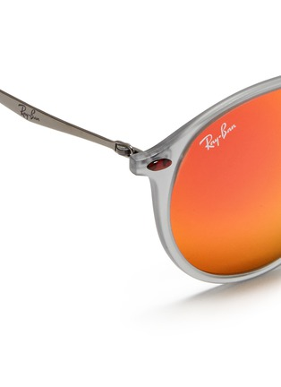 Detail View - Click To Enlarge - Ray-Ban - 'RB4224 Light Ray' titanium temple mirror sunglasses