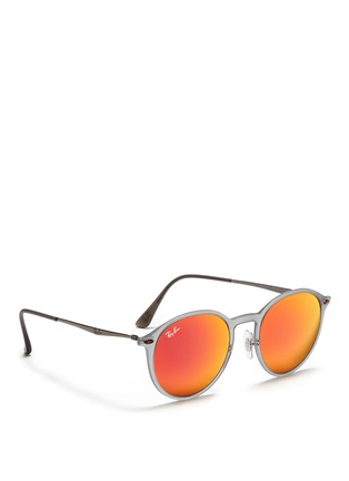 Figure View - Click To Enlarge - Ray-Ban - 'RB4224 Light Ray' titanium temple mirror sunglasses