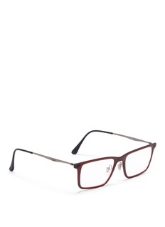 RAY-BAN 'RB7050 Light Ray' titanium temple rectangle optical glasses