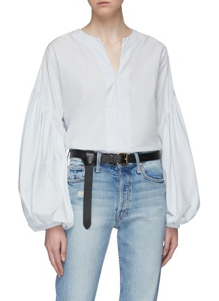 Figure View - Click To Enlarge - Maison Boinet - Cowhide leather belt