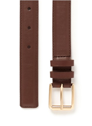 Detail View - Click To Enlarge - Maison Boinet - Calfskin leather belt