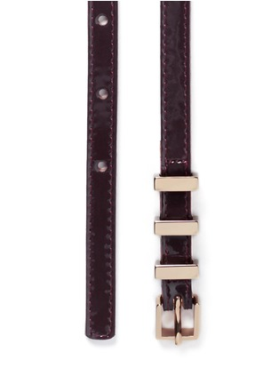Detail View - Click To Enlarge - Maison Boinet - Metal loop patent leather belt
