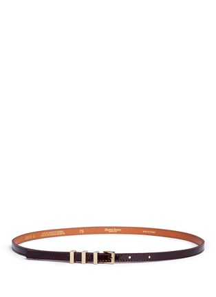 Main View - Click To Enlarge - Maison Boinet - Metal loop patent leather belt