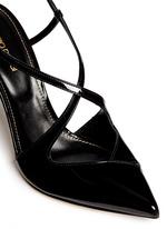 'Bon Ton' slingback patent leather pumps