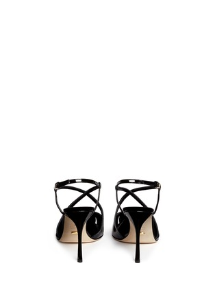 Back View - Click To Enlarge - SERGIO ROSSI - 'Bon Ton' slingback patent leather pumps