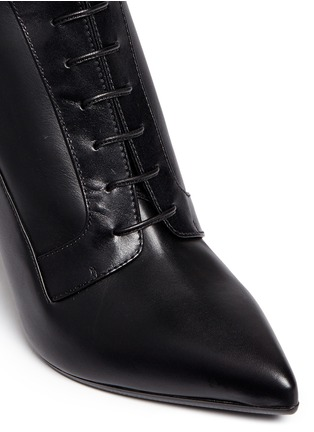 SERGIO ROSSI - Elastic lace-up leather ankle boots