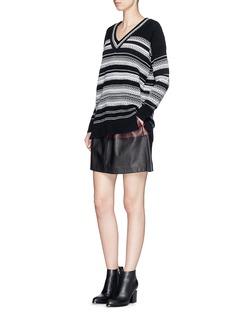 VINCETextured stripe cotton sweater