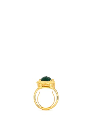 Detail View - Click To Enlarge - Kenneth Jay Lane - Crystal pavé emerald owl ring