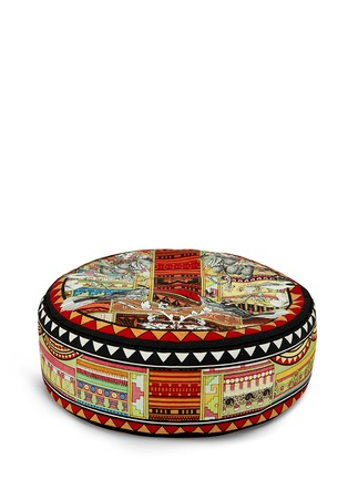 Main View - Click To Enlarge - Kristjana S Williams - Aztec Snow small pouffe