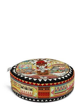 Figure View - Click To Enlarge - Kristjana S Williams - Aztec Snow small pouffe