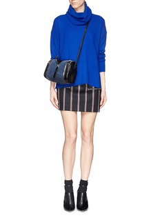 KARA'Double date' convertible leather and suede crossbody bag
