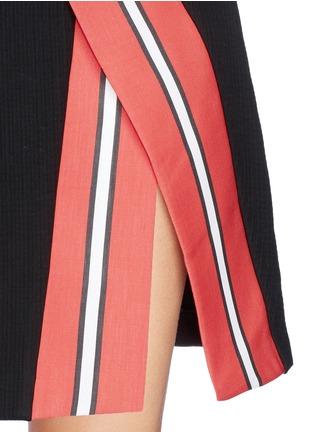 细节 - 点击放大 - TANYA TAYLOR - Emmy条纹开衩半身裙