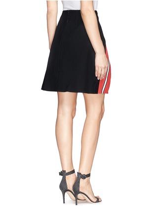 背面 - 点击放大 - TANYA TAYLOR - Emmy条纹开衩半身裙