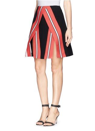 正面 - 点击放大 - TANYA TAYLOR - Emmy条纹开衩半身裙