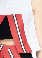 'Nelly' cutout front cropped tank top