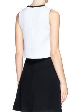 TANYA TAYLOR - 'Nelly' cutout front cropped tank top