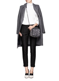 STELLA MCCARTNEYFalabella leopard print velvet crossbody bag