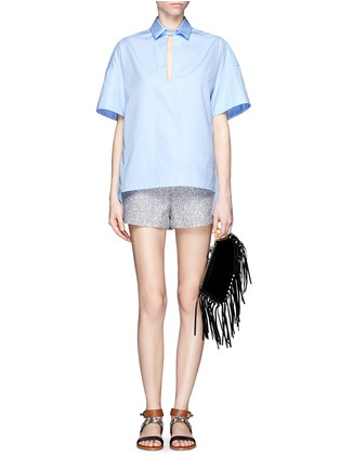 Figure View - Click To Enlarge - Valentino - Gryphon fringe leather finger clutch
