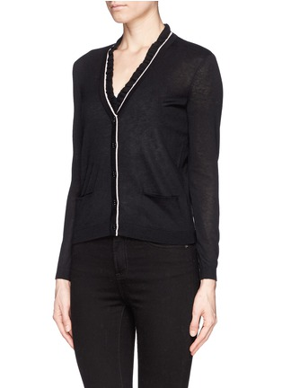 Front View - Click To Enlarge - Tory Burch - 'Rolanda' ruffle collar cardigan