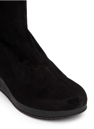 Detail View - Click To Enlarge - Robert Clergerie - 'Natuh' suede over-the-knee boots