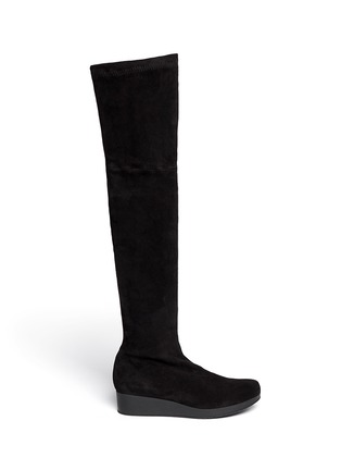 Main View - Click To Enlarge - Robert Clergerie - 'Natuh' suede over-the-knee boots