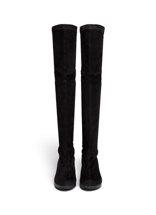 Figure View - Click To Enlarge - Robert Clergerie - 'Natuh' suede over-the-knee boots