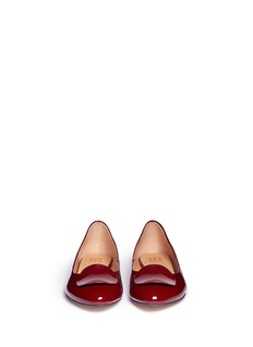 PEDDER RED Acetate plaque patent leather flats
