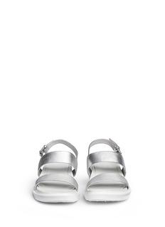 PEDDER REDMetallic leather strap sandals