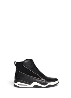 ASH'Fun' leather and neoprene slip-on sneakers