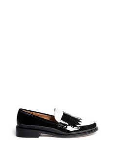 PEDDER REDFringe patent leather  penny loafers