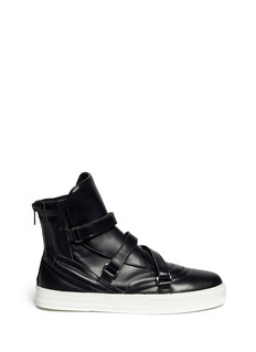 PEDDER REDVelcro strap leather sneakers