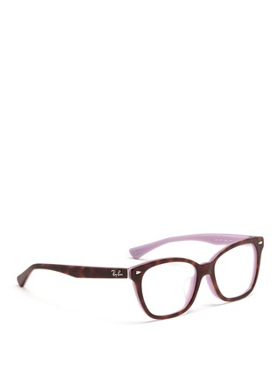 Figure View - Click To Enlarge - Ray-Ban - Two tone square cat eye optical glasses