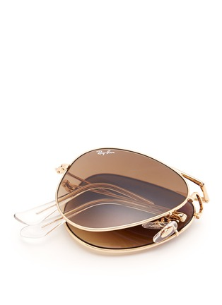 Detail View - Click To Enlarge - Ray-Ban - 'Aviator Folding' wire sunglasses