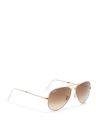 Figure View - Click To Enlarge - Ray-Ban - 'Aviator Folding' wire sunglasses