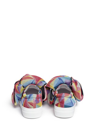 Back View - Click To Enlarge - Joshua Sanders - Twist bow mesh slip-on sneakers